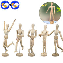 A TOY A DREAM 12 joints Wood Wooden mannequin toy / wooden puppet / wooden manikin Home Decoration Model,Painting Sketch Model(China)
