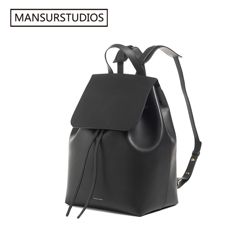 Image 2 - MANSURSTUDIOS  women leather backpack  mansur lady real  leather backpack, gavriel girl leather schoolbag.free shipping-in Backpacks from Luggage & Bags