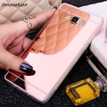 цена на Innovation Plating Mirror Soft TPU Cover For Samsung Galaxy S8 Plus J1 J3 J5 J7 2015 2016 J710 J510 J120 S6 S7 Edge Phone Cases