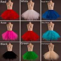 2019 frühling Kurze Tüll Halloween Petticoat Krinoline Petticoat für Frauen Unterrock Rockabilly Tutu