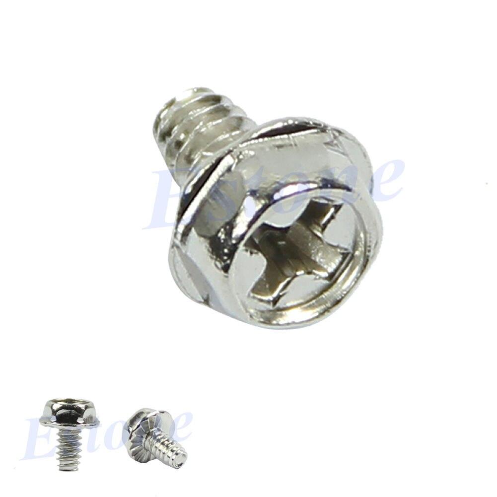 100 шт зубчатый шестигранный 6/32 компьютер ПК корпус жесткий диск материнская плата монтажные винты|Винты|   | АлиЭкспресс