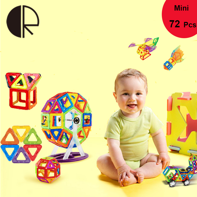 72PCS Mini Magnetic Building Block Educational Toy For Children Gift DIY 3D Designer Learning Kid Toys Model Bricks Original Box lee джинсы