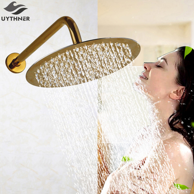 Uythner Newly Luxury Wall Mounted Brass Shower Spray Head Gold ...