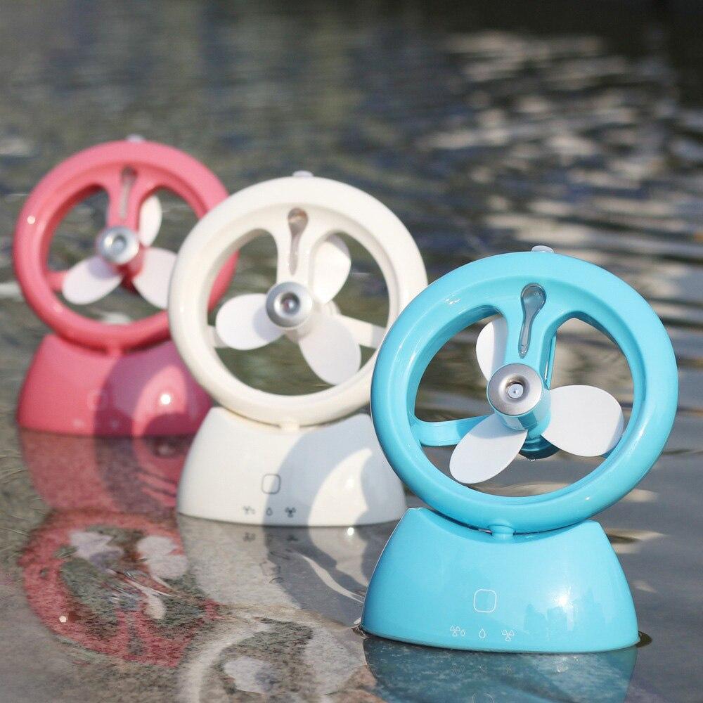 2016 New Creative USB Fan Car Air Humidifier Mini Home Office Diffuser Humidificador Fan Water Mist Maker Fogger Air Purifier
