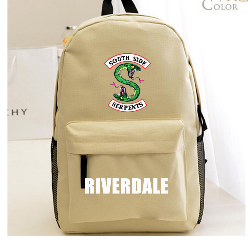Riverdale Women Backpack Solid Schoolbag Backpack Male Solid Schoolbag Laptop Men 2018 #5