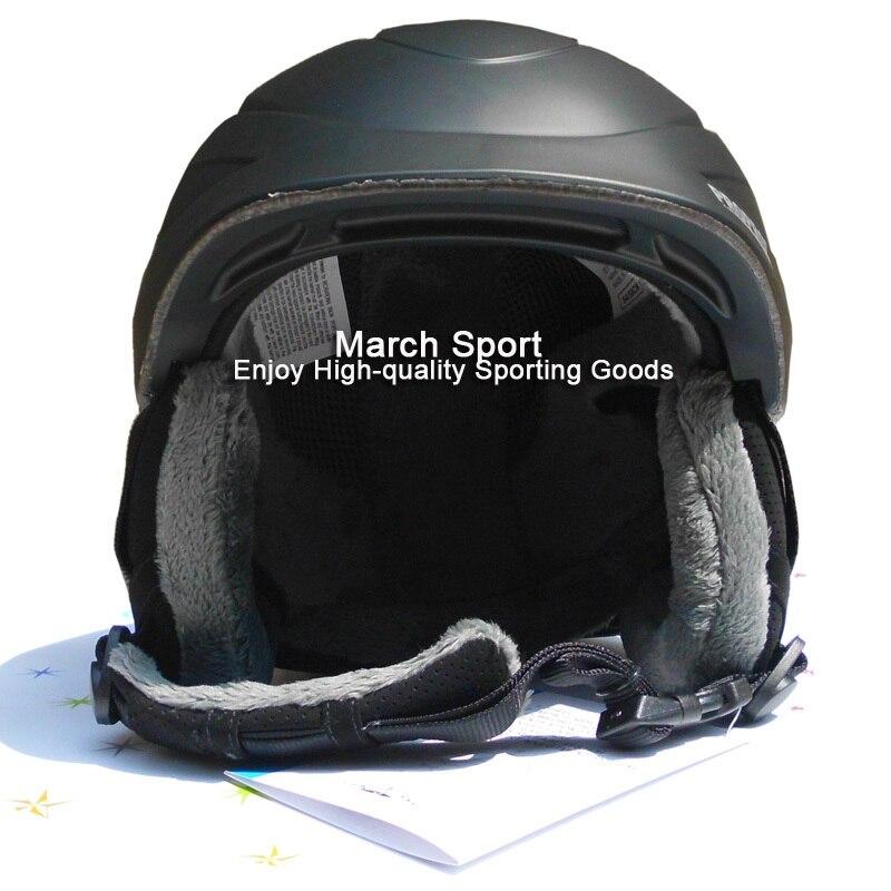 Deluxe Certifié ce Ski Snowboard Freestyle Casque Tête Équipement De Protection Hommes Femmes Grand Moyen Noir