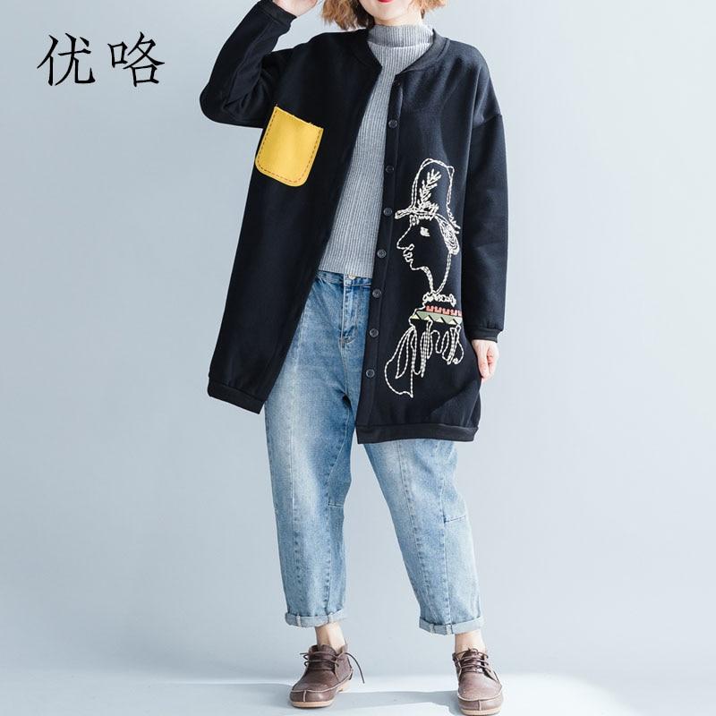 Kawaii Cartoon Printed Women Winter Jacket Korean Plus Size Thicken Velvet Coat Cardigan Windbreaker Cortaviento Mujer 4XL 5XL
