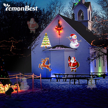 14 Patterns 9W Waterproof LED Projector Light Disco Lamp DJ Star Ghost Snowflake Heart Leaf Party Christmas Decoration Outdoor