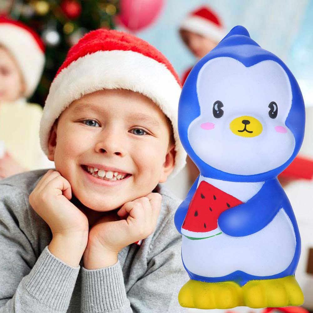 HOT! Sprzedaży Squishies słodkie arbuz pingwin powolne rośnie owoce pachnące stres Relief zabawki wycisnąć zabawki Drop Shipping Jan11