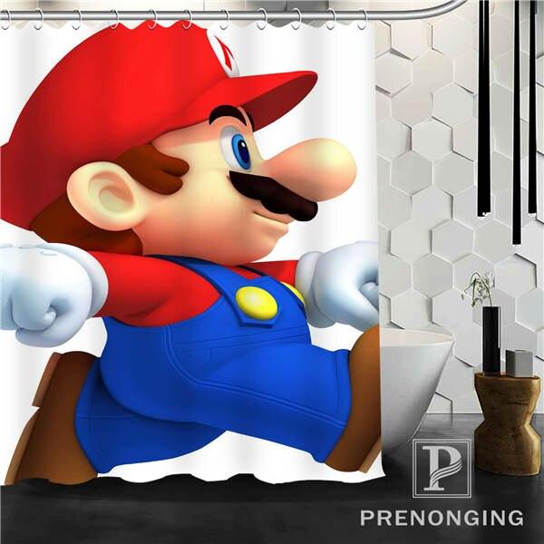 Super Mario Shower Curtain Fabric Waterproof Mildewproof Modern bathtub Bathroom Curtain Multi Size S-171216*01-32