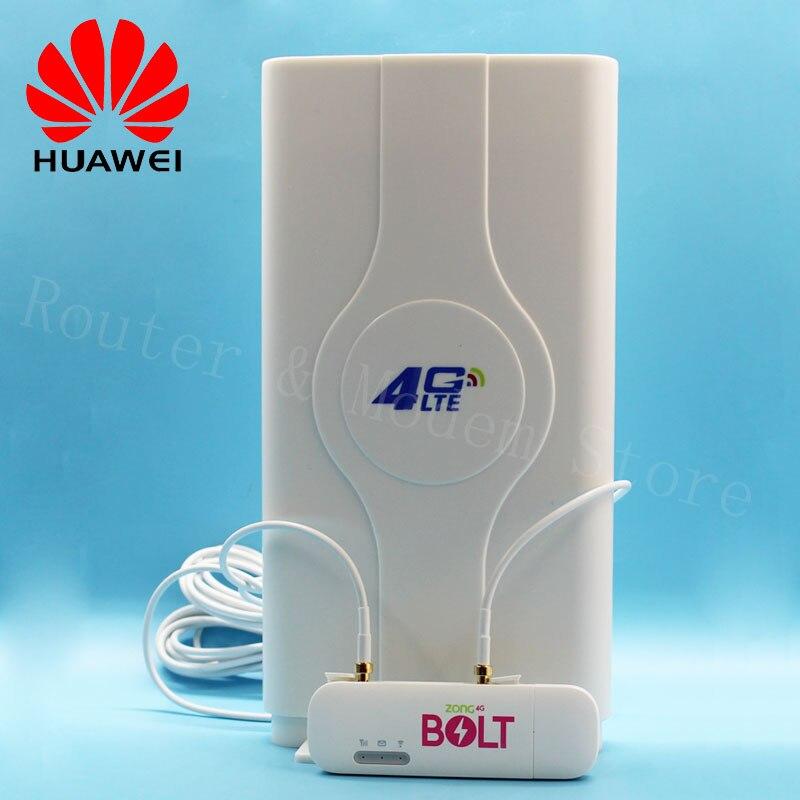 Débloqué Huawei E8372 E8372h-153 4G routeur sans fil avec antenne 150 M LTE USB Wingle LTE 4G USB WiFi Modem Dongle voiture Wifi