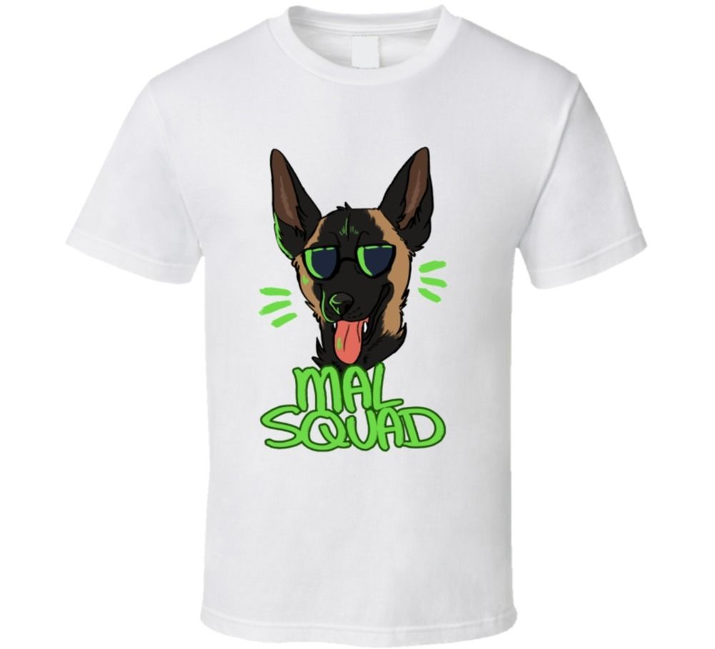 Belgian Malinois Dog Breed T-shirt Cartoon Tee