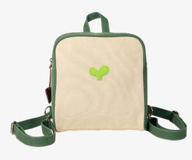 Vintage Preppy Style Green Color Backpack Contrast Color Patchwork Multi Function Shoulder Bag Fresh Mori Girl