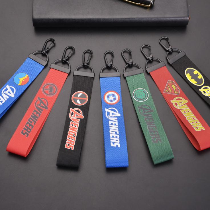 8-styles-marvel-keychain-font-b-avengers-b-font-4-thor-captain-iron-man-ribbon-band-toy-figures-for-keys-men-car-women-bag-fans-toy-gifts