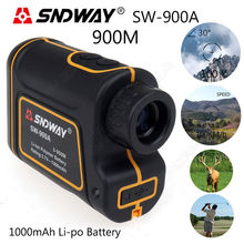 Free shipping! Laser 900M Scope Meter Speed Measurer Rangefinder 8x Distance For Outdoor Sports