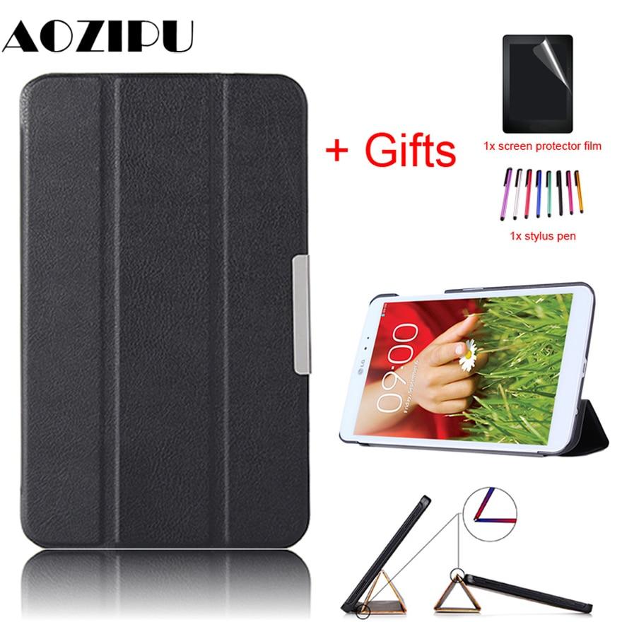 Ultra Slim Case For LG G PAD 8.3 V500 V510 8.3 Inch Tablet PU Leather Smart Magnet Protective Stand Funda Cover +Film+Pen