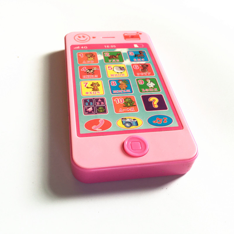 Купить с кэшбэком 2 colors Kids russian toy phone Baby learning machine Electronic Toys kids mobile phone