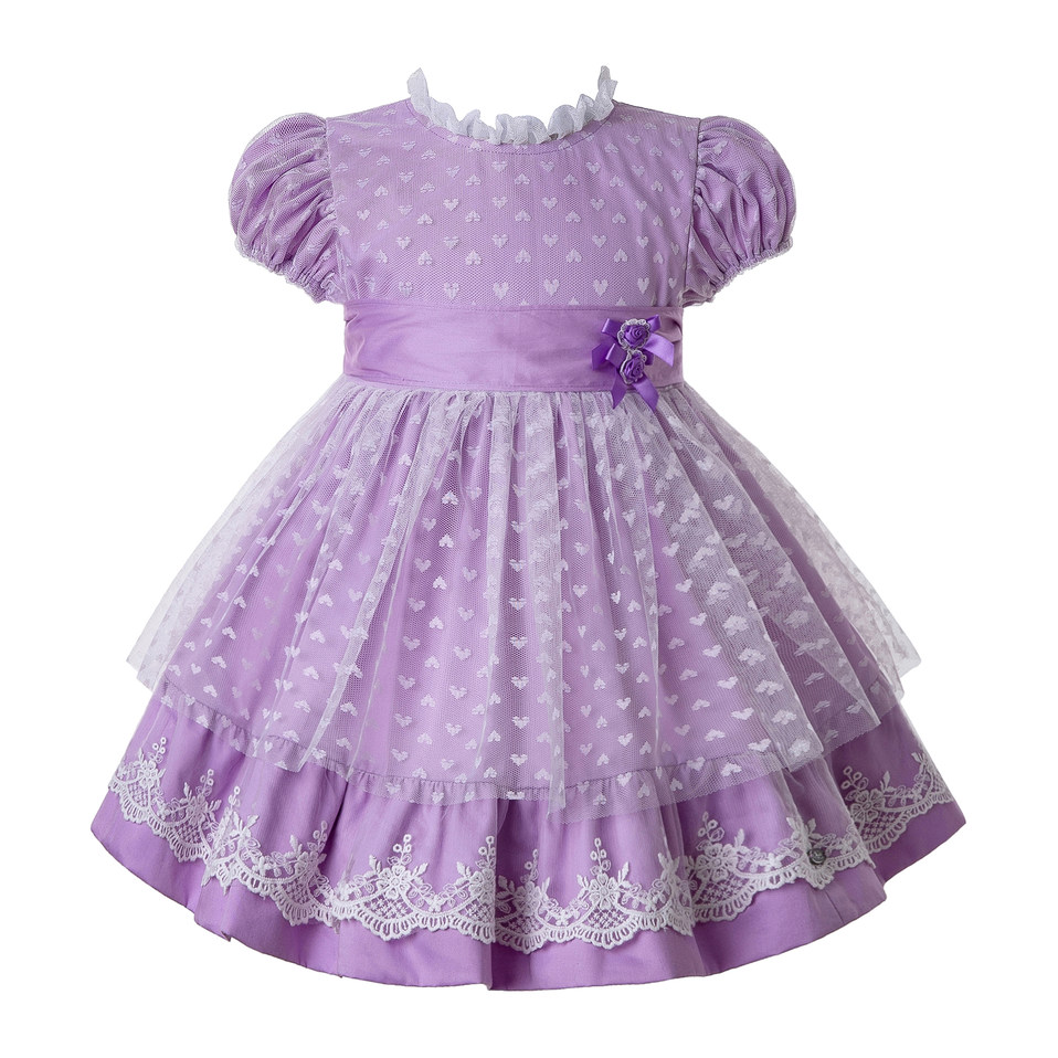 Pettigirl Vintage Aumtum And Winter Flower Baby Girls Clothes Long Sleeves Wedding Girl Dresses with Headwear