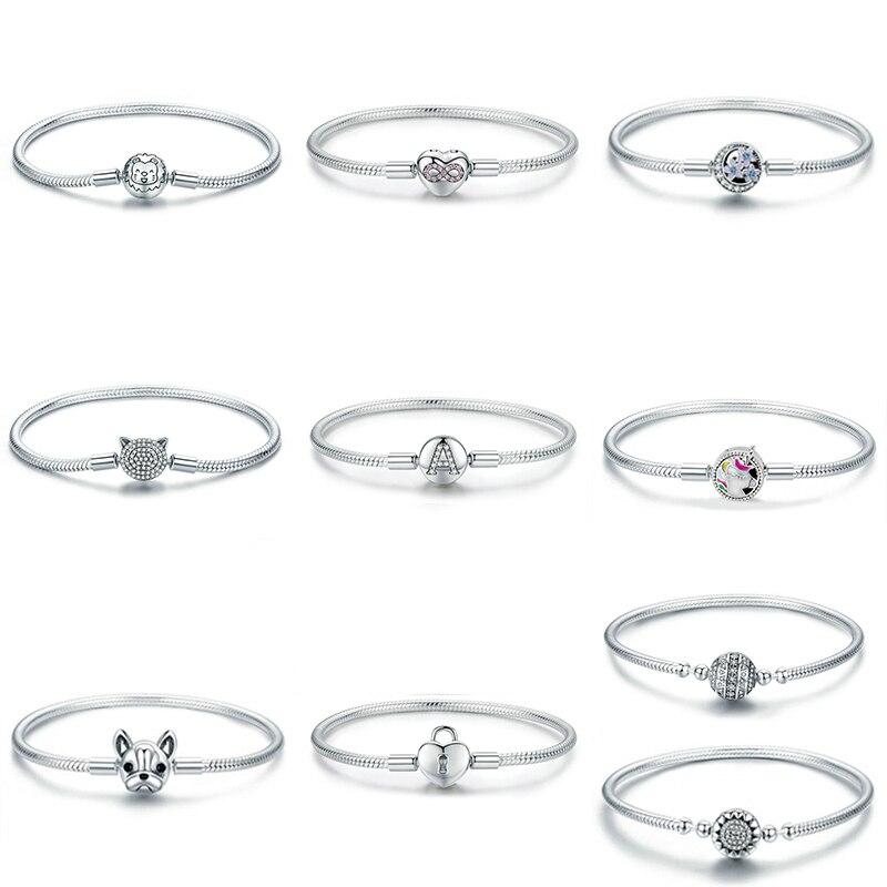 2019 nouveau 925 argent Sterling amour licorne Bracelet bricolage perle Fit Original Pandoar bracelets à breloques perles pour femme fabrication de bijoux