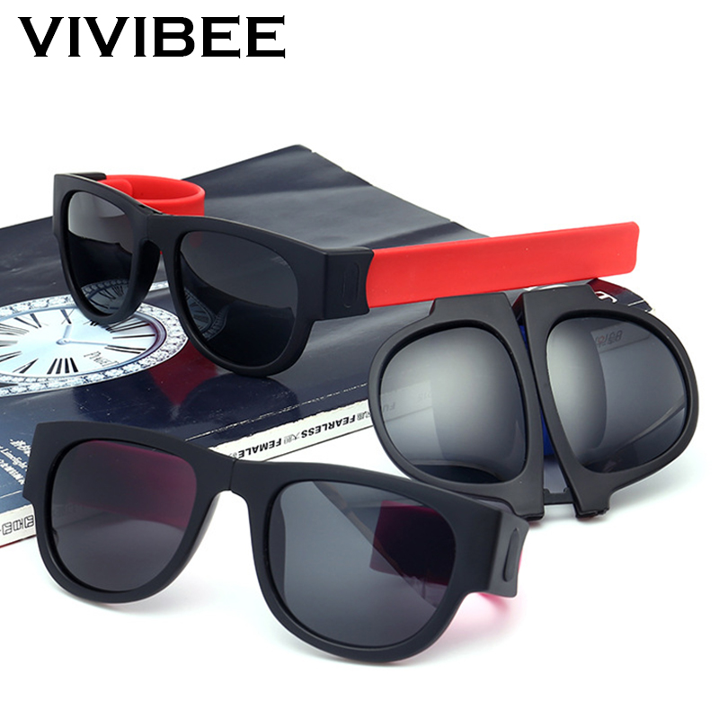Fancy Slap Wristband Men Polarized Wrist Sunglasses Folding Women Roll Bracelet 2020 Trend Foldable Sports Sun Glasses