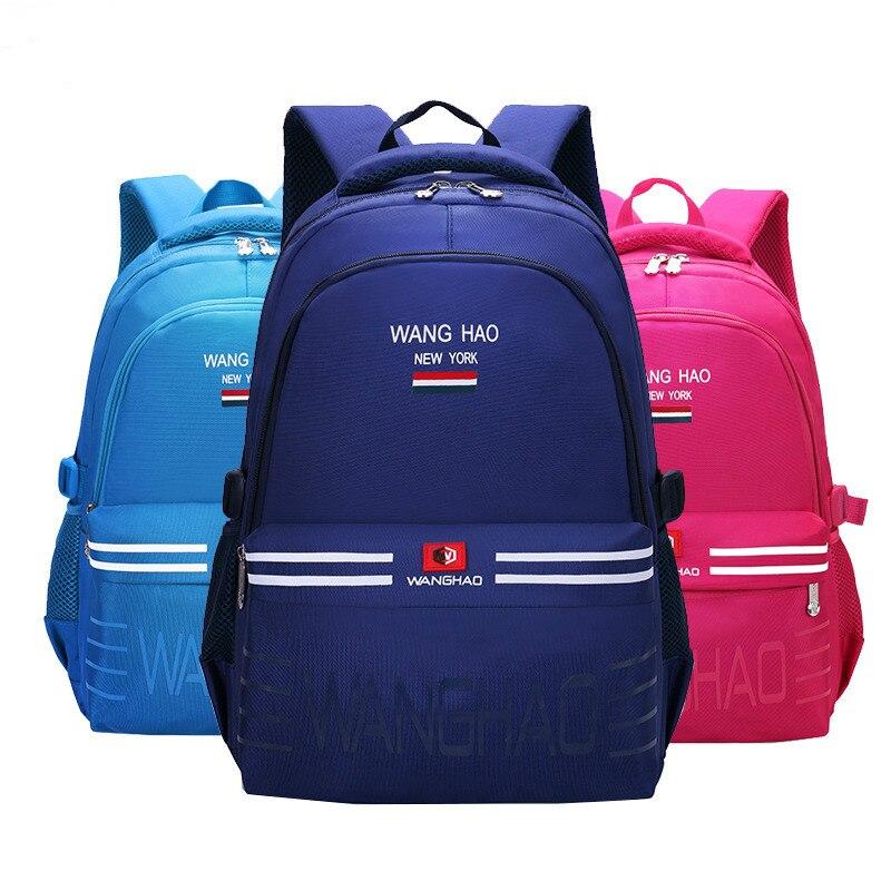 76538aea0124 Непромокаемые детские школьные сумки для девочек и мальчиков, детский  ортопедический рюкзак, школьные сумки,