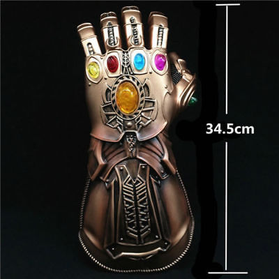 "13.6"" Marvel Avengers Infinity War Thanos Glove Infinity Stone Glove Infinity Gauntlet Glove Cosplay Gloves Collection Prop Gift"
