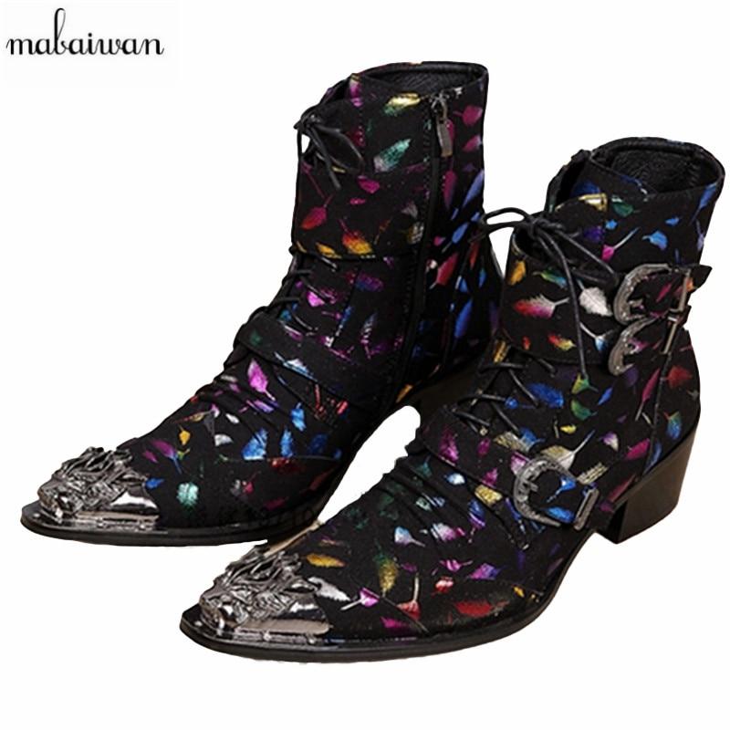 Mabaiwan جلد طبيعي أحذية الكاحل الرجال أحذية جديد الخريف الشتاء أحذية الجيش البريطاني أحذية عالية الجودة أحذية قصيرة الحجم 38-46