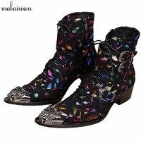Moda Genuínos Ankle Boots de Couro Sapatas Dos Homens Novos Outono Inverno Botas Botas Do Exército Britânico de Alta Qualidade Botas Curtas Tamanho 38-46