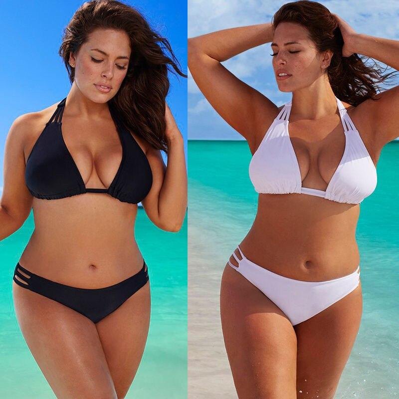 Plus Size Frauen Bikini Set Biquini Low Waist Push Up Big Size Badeanzug Bademode Große Größe Bikini Feminina Badeanzüge 4XL