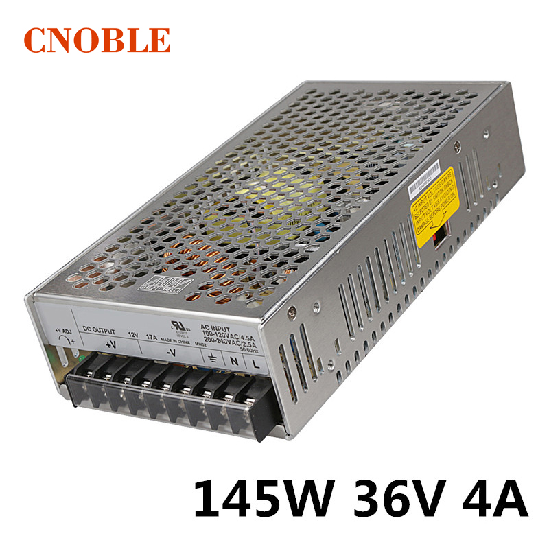 145W 36V 4A Single Output Switching power supply for LED Strip light AC to DC 1200w 48v adjustable 220v input single output switching power supply for led strip light ac to dc
