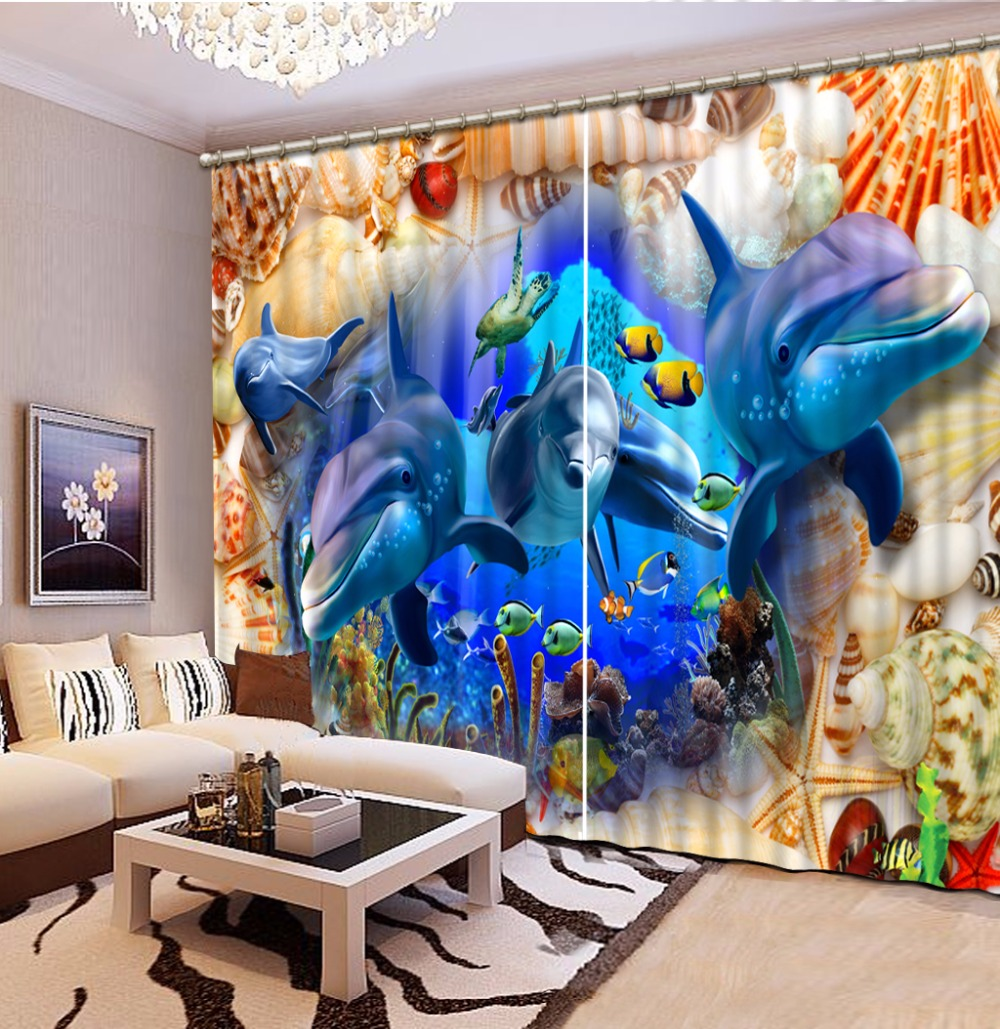 Modern Bedroom Curtains Decor Fashion Window Sheer Curtains For Children Room Dolphins Boys Girls Room Curtains Drapes Window Sheer Curtains Curtains Forsheer Curtains Aliexpress