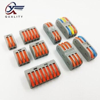 2/10/20 Uds. Empalme de cableado compacto PCT-222 212/213/215 bloque de conectores Universal divisor de cable SPL-2/SPL-3 1
