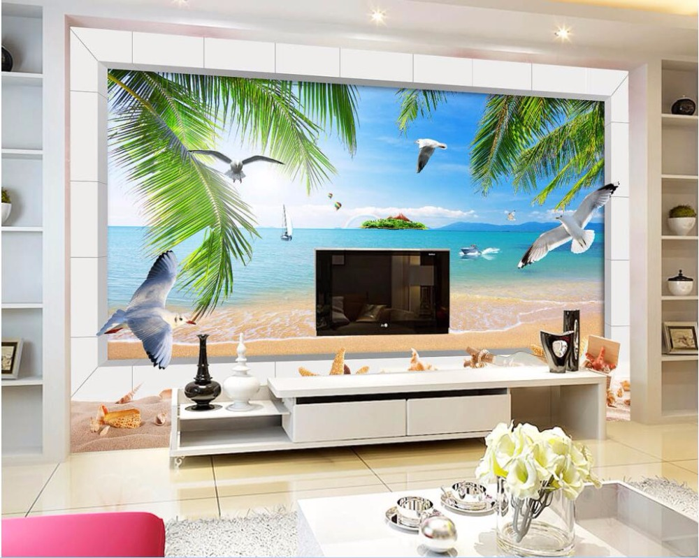 Custom photo mural 3d wallpaper hawaii sea scenery decoration custom photo mural 3d wallpaper hawaii sea scenery decoration painting 3d wall murals wallpaper for living room walls 3 d in wallpapers from home amipublicfo Image collections