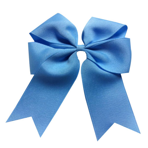 "WomensDate Più Caldo Carino 12 Pz/lotto 4 ""Wholesale Lots Tails Giù Solid Grosgrain Blue Sky Cheer Bow/Cheerleading Cappellini"
