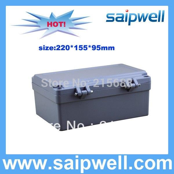 220*155*95mm boîte en aluminium étanche IP67 pour SP-AG-FA14 à usage domestique