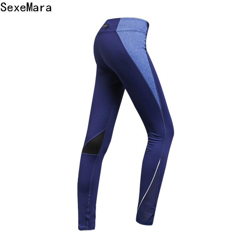 2017 taille haute Slim Fitness Leggings femmes respirant élastique taille Fitness pantalon d'entraînement Leggins pantalon femme JX01