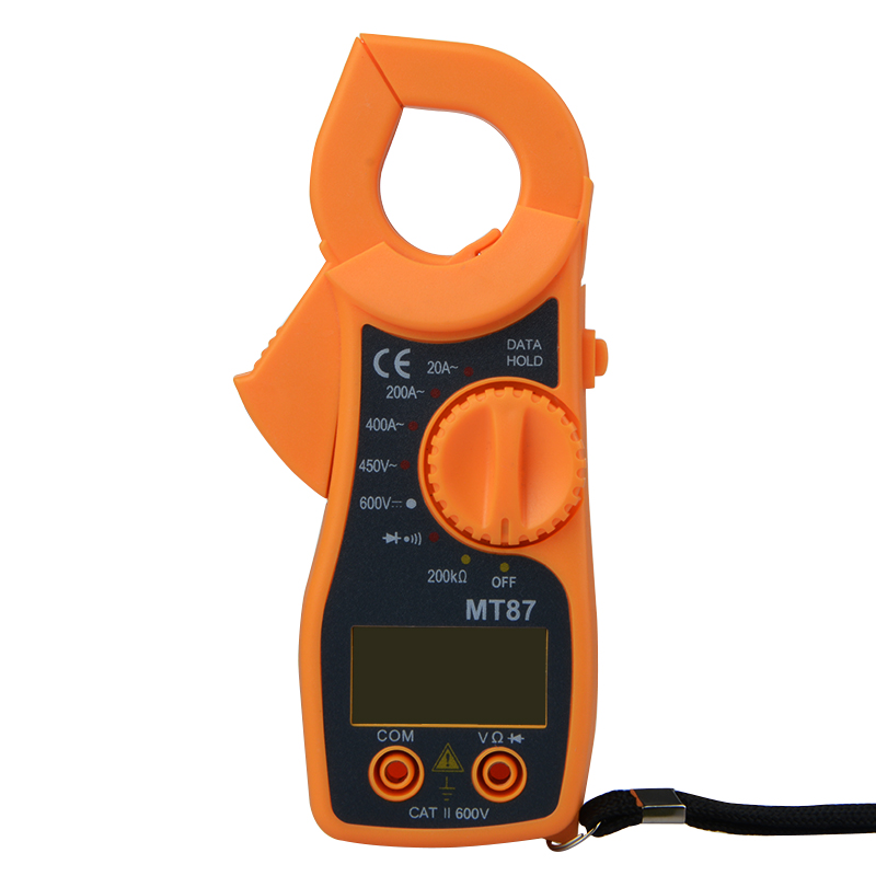 Free shipping MT87 Digital Clamp Meter Multimeter DC AC Voltage Current Tongs Resistance Amp Ohm Tester Electronic Medidor auto digital clamp meter mastech ms2108a pincers ac dc current voltage capacitor resistance tester aimometer multimeter amper