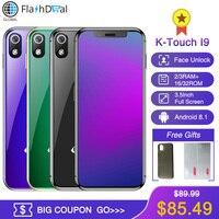 K TOUCH I9 Super Mini Mobile phone 3GB 32GB Celular 1000mAh Android 8.1 Smartphone Face Unlock GPS WIFI 2GB 16GB Cellphone