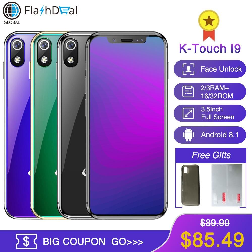 K-TOUCH I9 Super Mini telefone Móvel 3 GB 32 GB Celular 1000 mAh Android 8.1 Smartphone Desbloqueio Rosto GPS WI-FI 2 GB 16 GB Celular