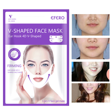 EFERO Firming V Face Mask Double Hanging Ear Paste Hydrogel Lifting Thin Masseter Band Chin