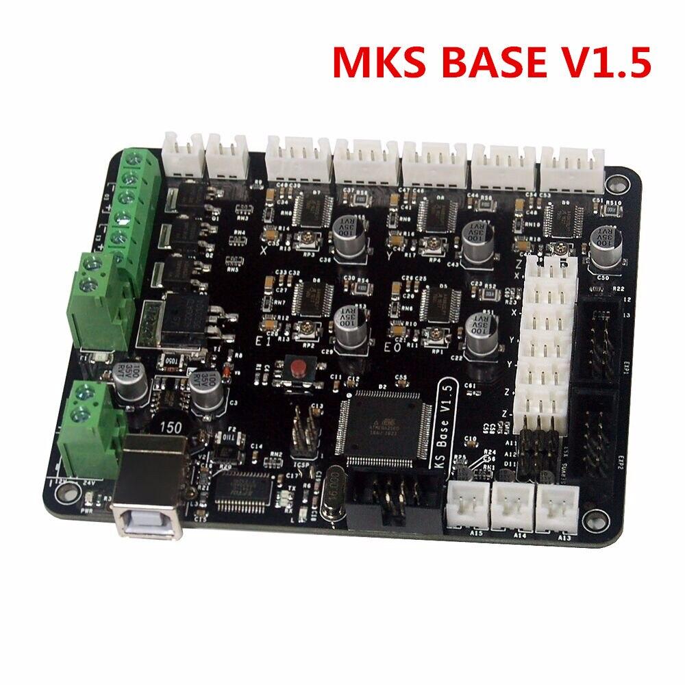 3D Printer Parts control board MKS BASE V1.5 compatible with Mega2560 & Ramps1.4 for Megatronics Prusa i3 Printer 3d printer mks base v1 4 similar to mks base v1 5 controller board compatible mega2560