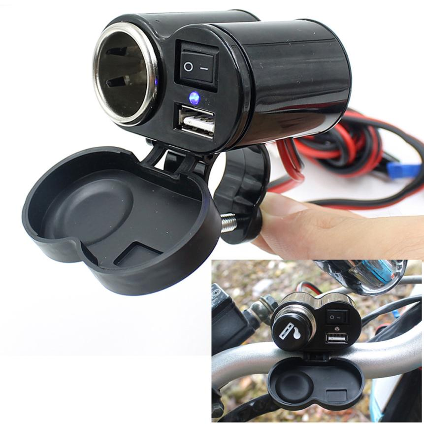 Motorcycle 12V Car ATV Boat Cigarette Lighter With Switches USB Charging Wonderful4.28/30%