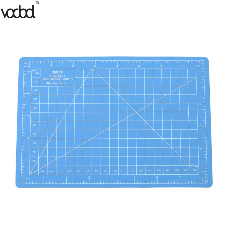 VODOOL PVC Cutting Mats A5 Size Durable Self-healing Cutting Pad For Office And School Cutting 15cm*22cm Cutting Plate