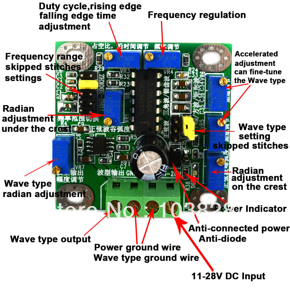 Pwm Sawtooth Square Wave Sine Triangle Signal Generator The Circuit Green In Integrated Circuits From Electronic Components Supplies On
