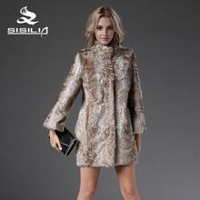 SISILIA 2017 New Arrival Tianjin Lamb Jacket Natural Fur Coats Real Fur Sheep Fur Coat Essential Fashion Slim Fur Coat