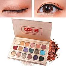 18 Color Shimmer Glitter Eye Shadow Powder Matt Long-Lasting Waterproof Eyeshadow Cosmetic Makeup Pop Colors Make up Palette(China)