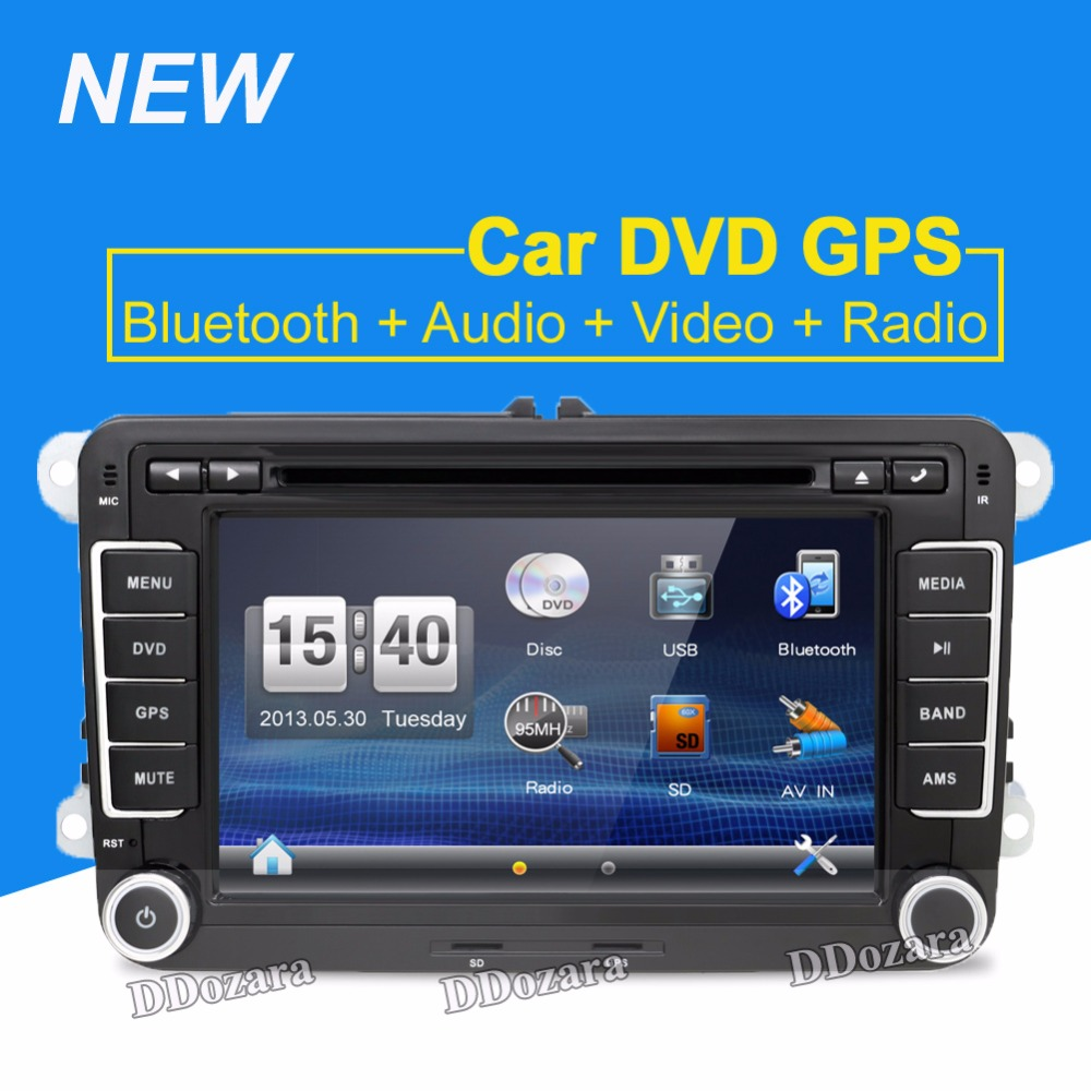 2Din GPS Navi Universal Car DVD Playe for VW TIGUAN GOLF POLO PASSAT JETTA TOURAN CADDY WITH USB/SD HD TV Radio car pc joyous vw 8 car dvd player w radio gps analog tv bt canbus for polo jetta tiguan turan passat