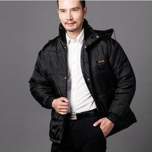 Мужская Зимняя Куртка С Меховым Капюшоном мужская Мода Более Тепло зимой, Чтобы Согреться Съемный Шляпа Плюс Размер Мужчины Пальто Зимнее