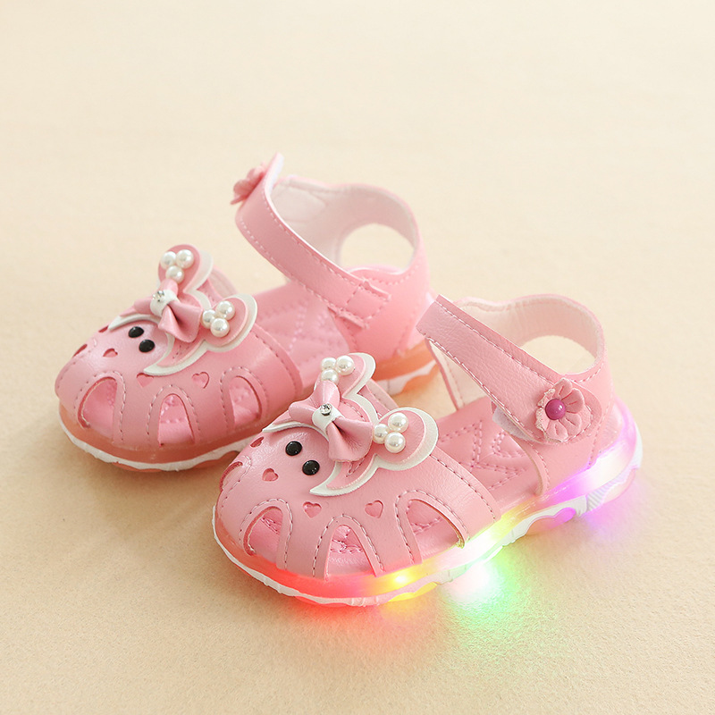 Toddler Shoes Baby-Girl Fashion Cute Lighting Shiny Colorful