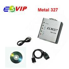 20pcs/DHL Recommanded ELM327 Metal Aluminum OBD2 Auto Diagnostic Tool ELM 327 USB Metal Interface Code Reader Scanner V1.5/V1.5a